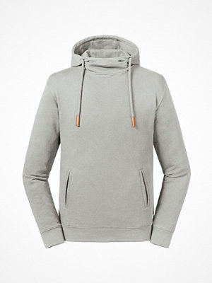 Russell Pure Organic High Collar Hooded Sweat Grey
