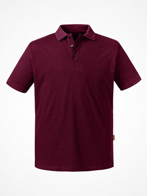 Russell Pure Organic Men Polo Wine red
