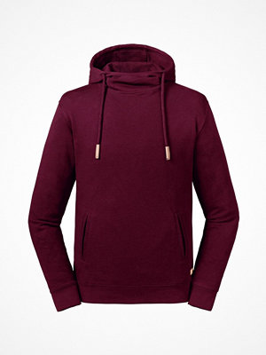 Russell Pure Organic High Collar Hooded Sweat Wine red