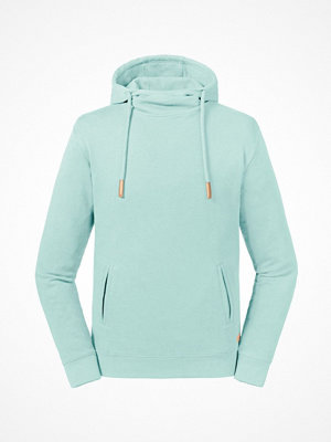 Russell Pure Organic High Collar Hooded Sweat Turquoise
