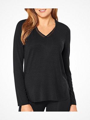 Pyjamas & myskläder - Triumph Lounge Me Climate Control Long Sleeve Top Black