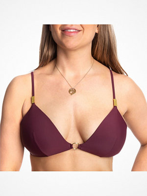 Calvin Klein Core Solid Fixed Triangel Bikini Wine red