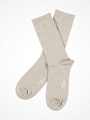 Strumpor - Topeco Men Sock Bamboo Twisted Beige
