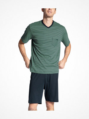 Calida Relax Streamline 2 Short Pyjama Green Striped