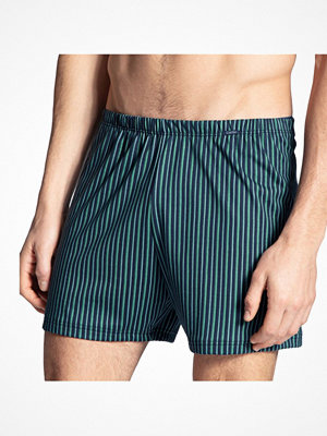 Calida Prints Cotton Boxer Shorts Green Striped