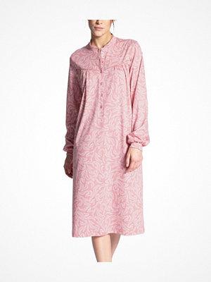 Nattlinnen - Calida Soft Cotton Nightdress Long Sleeve Pink Pattern
