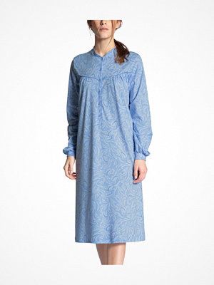 Calida Soft Cotton Nightdress Long Sleeve Blue Pattern