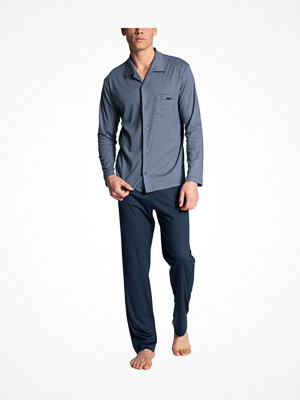 Calida Relax Choice with Buttons Pyjama Blue