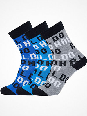 Strumpor - CR7 Cristiano Ronaldo 3-pack Boys Socks Blue Pattern