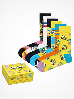Strumpor - Happy Socks 6-pack Happy Socks Sponge Bob Gift Box Socks Pattern