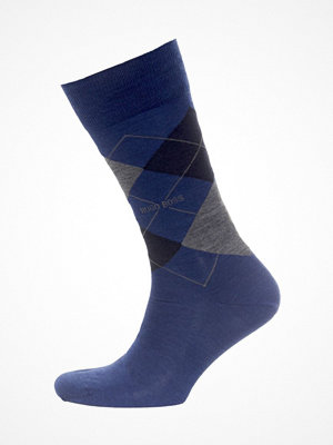 Strumpor - Hugo Boss BOSS John RS Argyle Wool Sock Darkblue