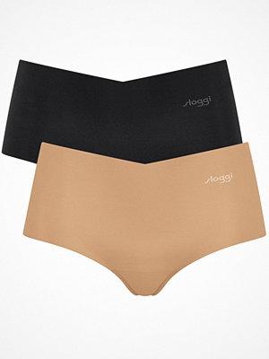 Sloggi 2-pack ZERO Microfibre Shorts Black/Skin