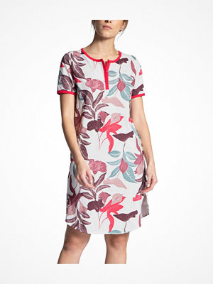 Nattlinnen - Calida Late Summer Dream Nighdress Short Sleeve Pink Pattern