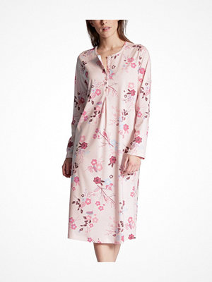 Nattlinnen - Calida Cosy Cotton Nightshirt Long Sleeve Pink Floral