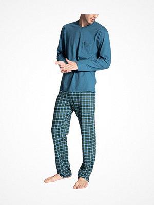 Calida Relax Imprint 1 Pyjama Lt blue Check