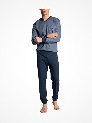 Calida Relax Choice Pyjama With Cuff Indigo blue