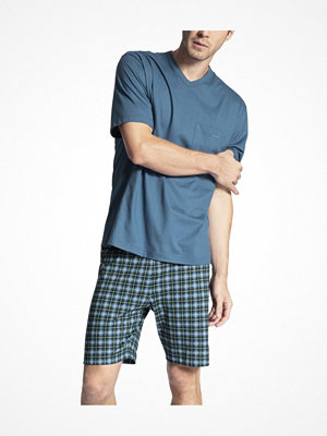 Calida Relax Imprint 1 Short Pyjama Lt blue Check