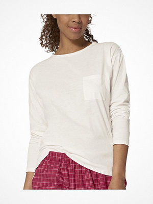 Triumph Lounge Me Cotton Mix and Match LSL Top White