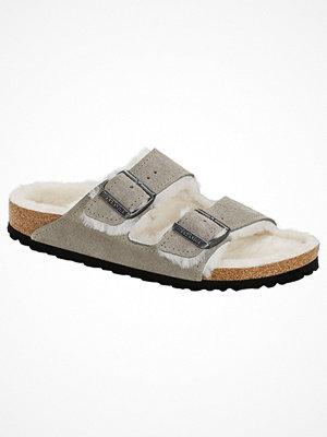Tofflor - Birkenstock Arizona Suede Fur Grey