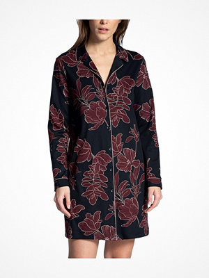 Calida Artisan Nights Sleepshirt With Collar Blue Pattern