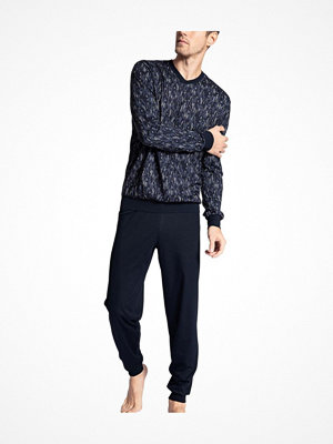 Calida Relax Imprint 1 Pyjama With Cuff Blue Pattern