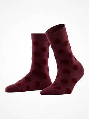 Strumpor - Falke Women Dot Fur Socks Wine red