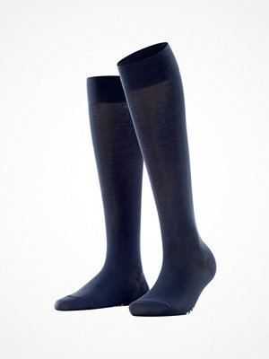 Falke Women Cotton Touch Knee High Navy-2