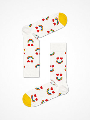 Strumpor - Happy Socks Happy Socks Happy Rainbow Sock White Pattern-2