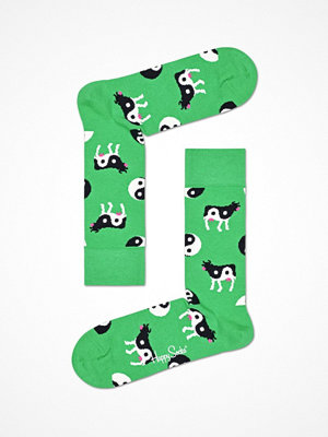 Strumpor - Happy Socks Happy Socks Ying Yang Cow Sock Green Pattern