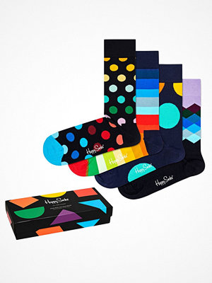 Strumpor - Happy Socks 4-pack Happy Socks Classic Multi Color Socks Gift Box Multi-colour
