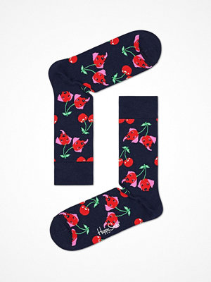 Strumpor - Happy Socks Happy Socks Cherry Dog Sock Navy pattern