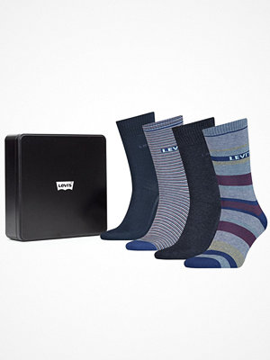 Strumpor - Levi's 4-pack Logo Regular Giftbox Socks Blue
