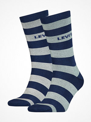 Strumpor - Levi's 2-pack Rugby Stripe Regular Socks Blue