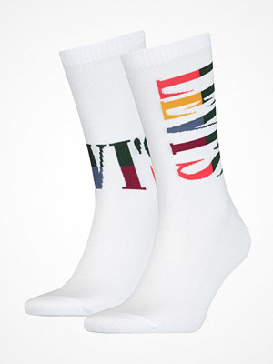 Strumpor - Levi's 2-pack Logo Retro Regular Socks White