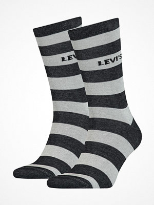 Strumpor - Levi's 2-pack Rugby Stripe Regular Socks Black