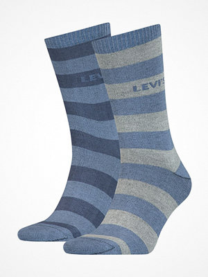 Strumpor - Levi's 2-pack Rugby Stripe Regular Socks Lightblue