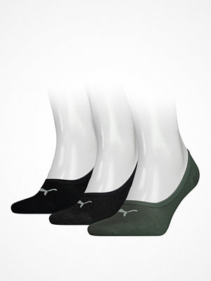 Strumpor - Puma 3-pack Footie Socks Black/Green