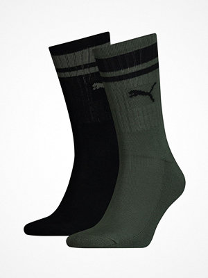 Strumpor - Puma 2-pack Crew Heritage Stripe Socks Black/Green