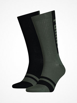 Strumpor - Puma 2-pack Logo Sock Black/Green