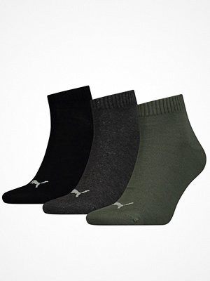 Strumpor - Puma 3-pack Quarter Socks Black/Green