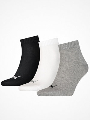 Strumpor - Puma 3-pack Quarter Socks Grey/Black