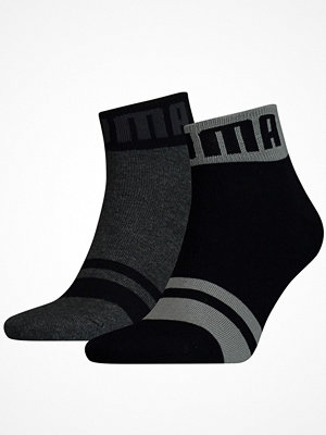 Strumpor - Puma 2-pack Logo Quarter Sock Black