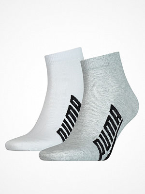 Strumpor - Puma 2-pack Lifestyle Quarter Sock White/Grey