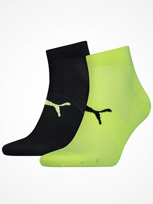 Strumpor - Puma 2-pack Performance Lightweight Quarter Sock Black/Yellow
