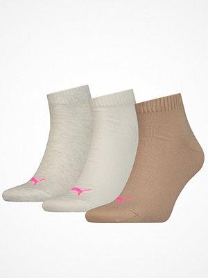 Puma 3-pack Quarter Socks Beige