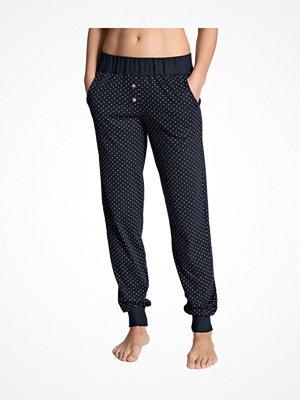 Pyjamas & myskläder - Calida Favourites Dreams Pants With Cuff Darkblue