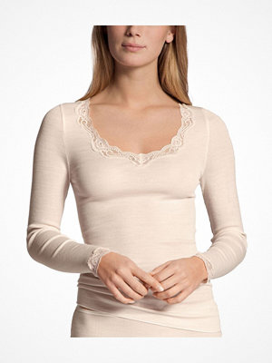 Calida Richesse Lace Long-sleeve Top Ivory
