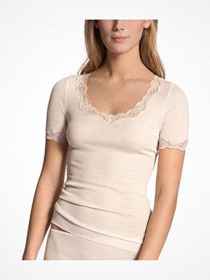 Pyjamas & myskläder - Calida Richesse Lace Short-sleeve Top Ivory