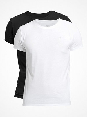 Pyjamas & myskläder - Gant 2-pack Basic Crew Neck T-Shirt Black/White