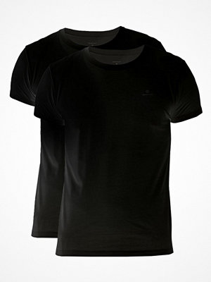 Pyjamas & myskläder - Gant 2-pack Basic Crew Neck T-Shirt Black